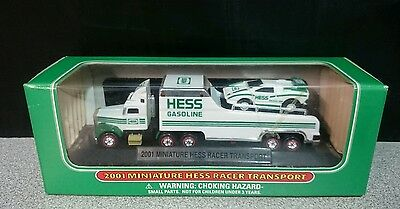 2001 Miniature Hess Racer Transport - New In Box