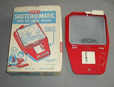 Sketch O Matic Drawing Toy Merit Games 1960s VINTAGE GC RARE