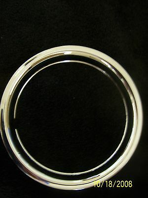 """15"""" Chrome Steel Beauty Wheel Trim Rings Set of Four Chevy Ford 15 inch GM Dodge"""