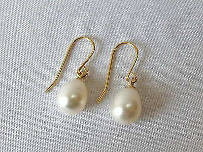 9ct Gold Filled Freshwater Pearl Drop Earrings.