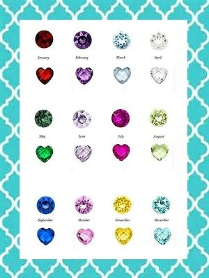 Authentic Origami Owl Round & Retired Heart Birthstone Charms BUY 4 GET 1 FREE!!