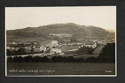 Builth Wells - General View from south -  real photographic postcard
