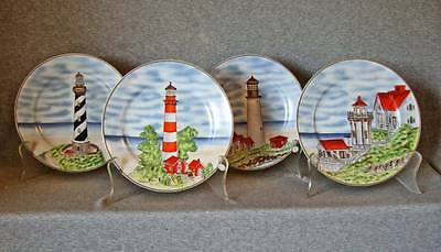 Lighthouse plates~4 different~Royal Norfolk~exc.cond.