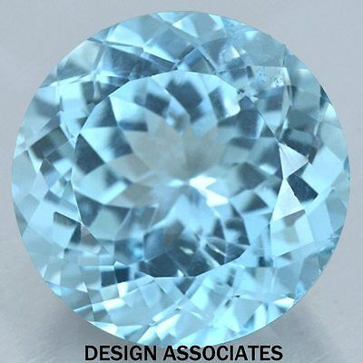 3 Mm Round Cut Blue Zircon All Natural Aaa