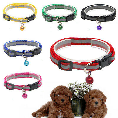 1X Special Adjustable Cat Dog Puppy Reflective Collar w/ Bell 12.5""
