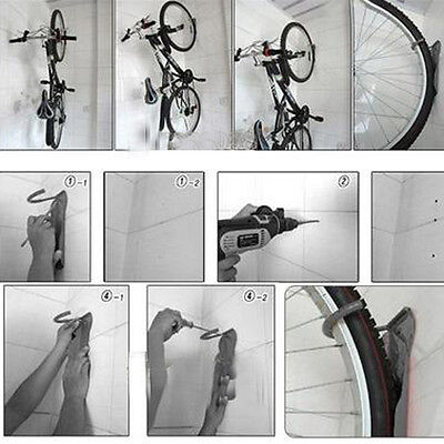 New Cycling Bicycle Storage Demo Wall Mount Rack Bike Holder Hanger Stand Balck