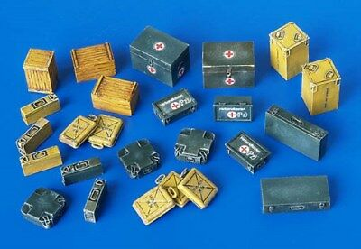 Plus Model 1:48 Ammunition&Medical Aid Container Germany WWII Resin Detail #4023