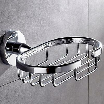 Stainless Steel Wall Mounted Sink Soap Dispenser Tray Dish Holder Shower Plate