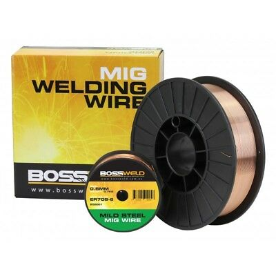 Bossweld ER70S-6 Mig Wire x 0.9mm x 5 Kg Spool  - General Purpose - Premium