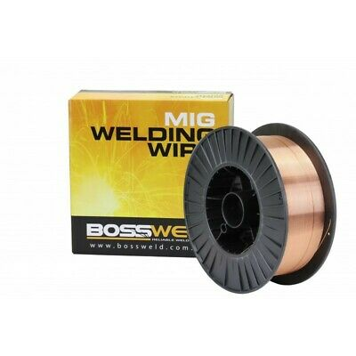 Bossweld Layer Wound Mig Wire ER70S-6 x 1.0mm x 15 Kg - Steel - General Purpose