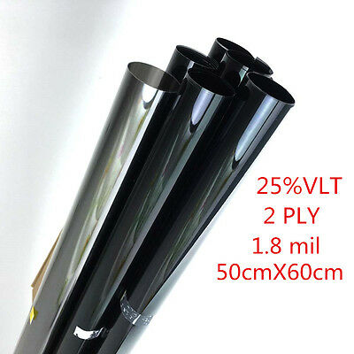 2PLY 50cm*0.6m 25% VLT Car Black Car Home Glass Window Tint Film and shade Roll