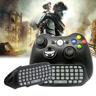 Wireless Controller Messenger Game Keyboard Keypad ChatPad For XBOX 360 (Black)