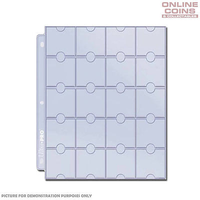 "ULTRA PRO 20 POCKET COIN PAGES SUIT 2"" x 2"" HOLDERS  x 10"
