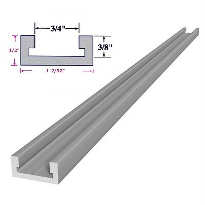 3/4x3/8x12 inch T-track Miter Track, for Router Table Saw Jig Fixture Slot, 1 ft