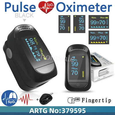 Pulse Oximeter Finger Tip Fingertip Monitor Blood Oxygen SpO2 OLED