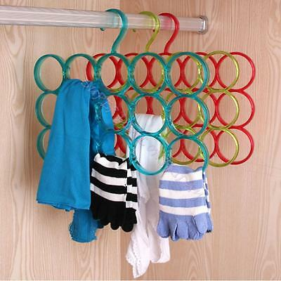 Hot European 5 Holes Hanger Hook Wardrobe Organizer for Scarf Clothes