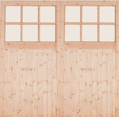 Timber Wooden Side Hung Garage Doors 301 Softwood 7070