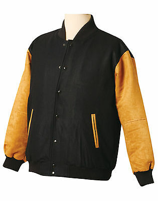 New Mens Bomber Jacket Coat Winter Imitation suede long sleeves - XXXL