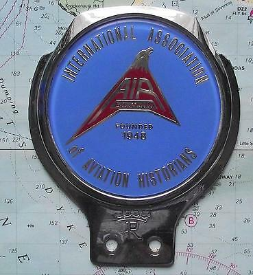 c1950 Quality Chrome Car Mascot Badge for Int Ass Aviation Historians by Renamel