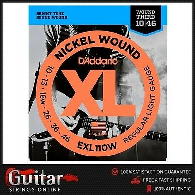 D'Addario EXL110W Regular Light Daddario Electric Guitar Strings Wound 3rd 10-46