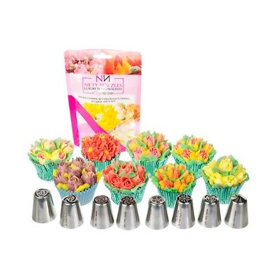8 x Nifty Nozzles - bundle of 8 flower piping nozzles