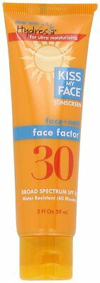Kiss My Face Face Factor Natural Sunscreen SPF30 Sunblock for Face and Neck 59ml