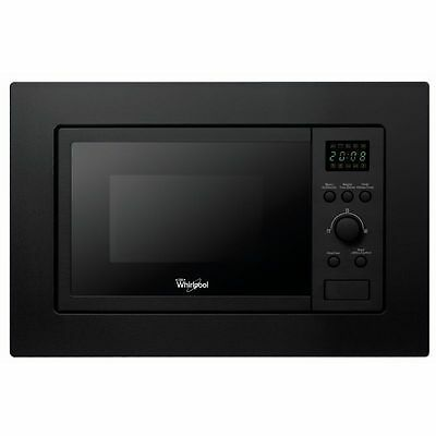WHIRLPOOL AMW140NB Build-In Black Kitchen Microwave Grill 20L 800W Free Delivery