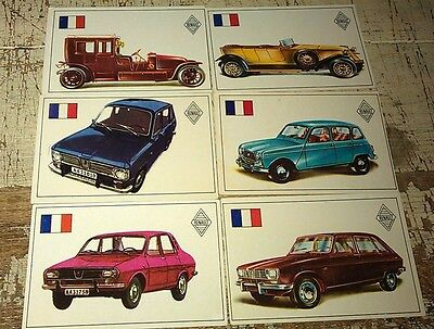 RENAULT - Famous Cars by Top Sellers Ltd UK Trade Cards RARE