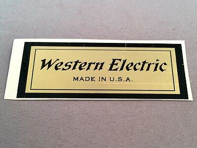 Antique Telephone Water Decal - Western Electric