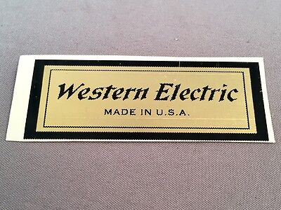 Antique Vintage Telephone Water Decal - Western Electric - 201141