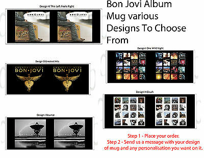 Bon Jovi Album Mug - Can be personalised (Various Designs)