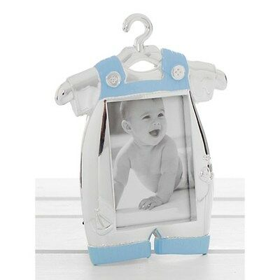 Silver Plated Baby Boy Romper or Baby Girl Dress Photo Frame
