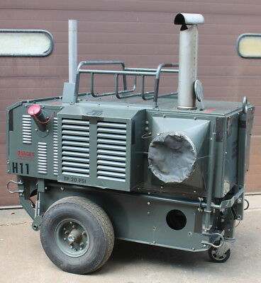 Portable duct heater, Trailer, 400K BTU, Self contained Engine Diesel Polartherm