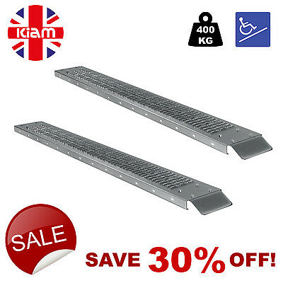 PAIR of Ramps 1.85m 400kg MEDICAL SCOOTER ACCESS RAMPS Threshold