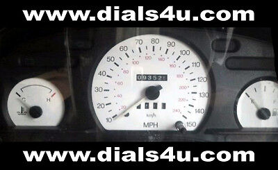 FORD TRANSIT Mk5 / Mk6 (1994-2000) - 140mph or 150mph WHITE DIAL KIT