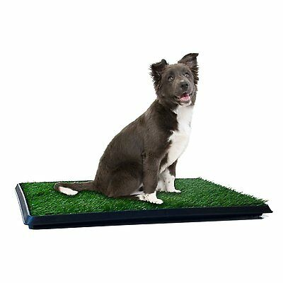 Puppy Potty Trainer Indoor Training Pet Dog Grass Pad Pee Mat Patch Turf MEDIUM