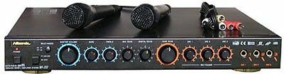 Karaoke Mixer Amplifier With Microphones Home Theater Amp System Mic Watts, NEW