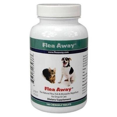 Flea Away tablets chewable natural repels flea tick & mosquito Dogs & Cats