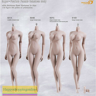 Phicen 1/6 Scale Female Seamless Women Sexy Body S01A S04B S07C S10D Skeleton