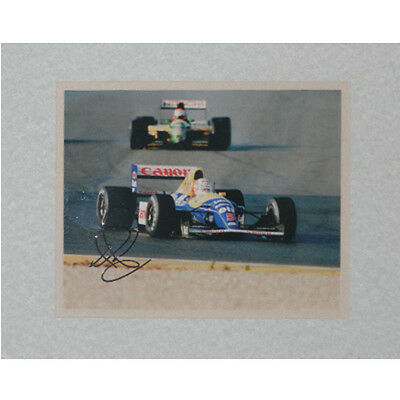 """Nigel Mansell Autographed 8""""x10"""" Matted"""