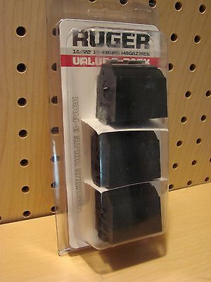 3 Pack Ruger 10/22 Magazines 22 LR BX-1, 10 Round Clips #90451 NEW