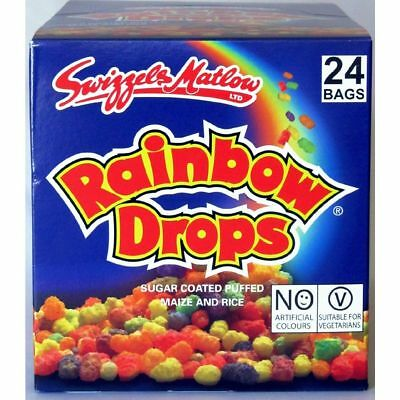 24 Rainbow Drops Large 34g Size Bag Retro Sweets Party Bags