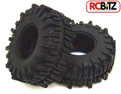 """Mud Slingers 2.2"""" Tyres (2) RC4WD with Foams Wide footprint SOFT snow, sand, mud"""