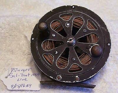 """Pflueger Sal Trout 1554 Fly Reel   9/15/16Ny  Line     3-1/2"""""""