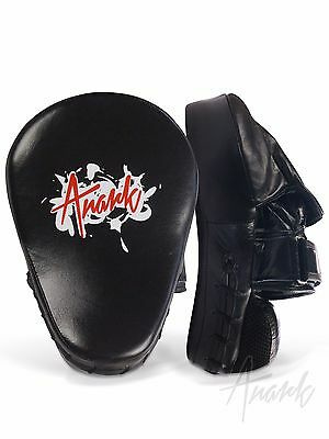 Curved Focus Pads (Hook-and-Jab) Genuine Leather - Boxing, MMA and Combat Sports
