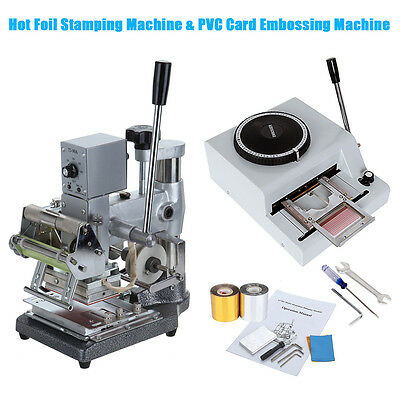 Hot Foil Stamping  Bronzing & 72 Character PVC Card Embosser Stamper Machine