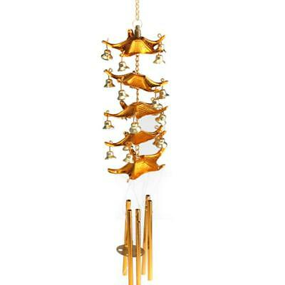 5-Layer Roof Bell Hanging Wind Chime Decor Outdoor Ornament Garden Mobile
