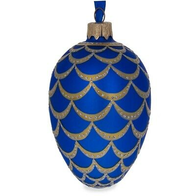 1900 Pine Cone Royal Egg Glass Ornament