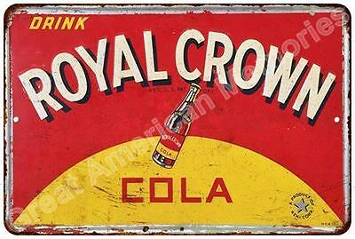 Royal Crown Cola Vintage Look Reproduction Metal Sign 8x12 8123013