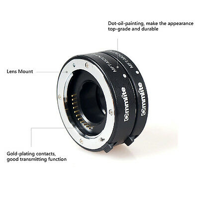 Commlite Automatic AF Macro Extension tube set for Micro M4/3 Mount MFT Olympus